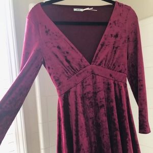 Kimchi Blue Red Velvet Dress size Small